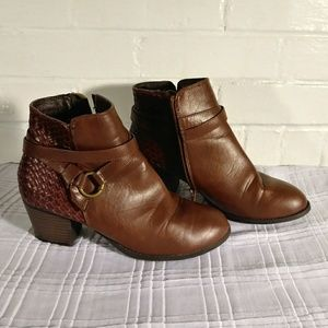 Modcloth chunky heel ankle boots